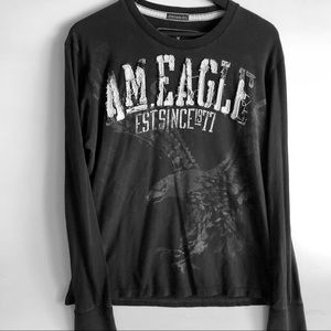 American Eagle Tee-Shirt, SZ L, Distressed